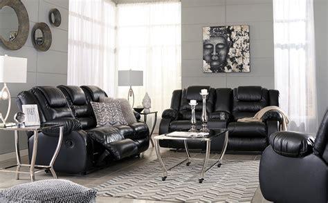 vacherie black reclining sofa  shipping marjen
