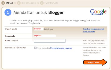 blogger daftar cara daftar blogger com 2 catatan mas toro