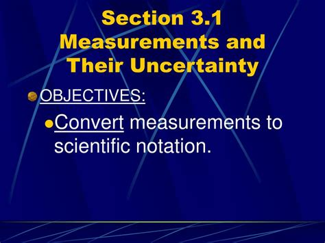 section 3 1 measurements and their uncertainty ppt chapter 3 scientific measurement powerpoint