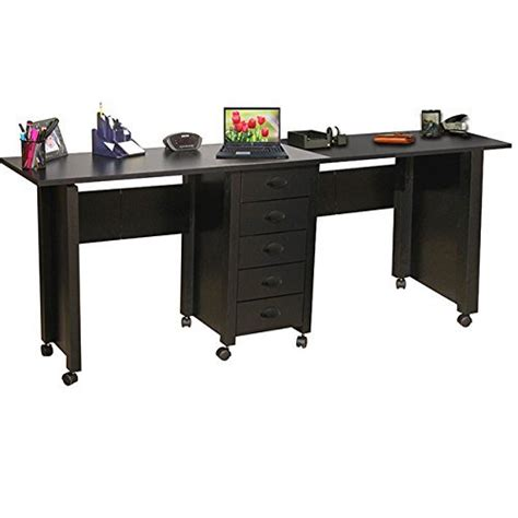 Desks For Two by Space Saving Collapsible Two Desk Computer Deskz