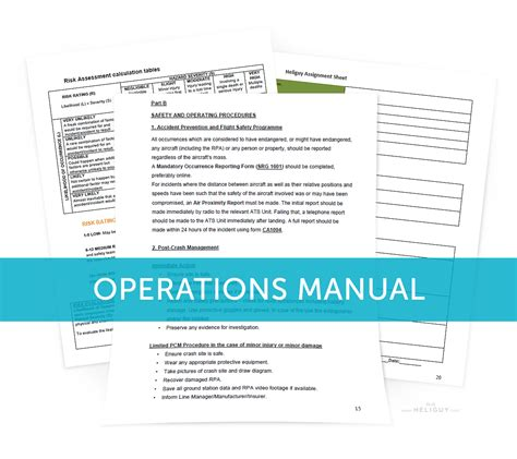 operations manual template free operations 28 images