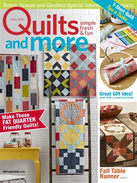 Quilts And More Magazine Subscription by Quilts And More Fall 2016 Allpeoplequilt