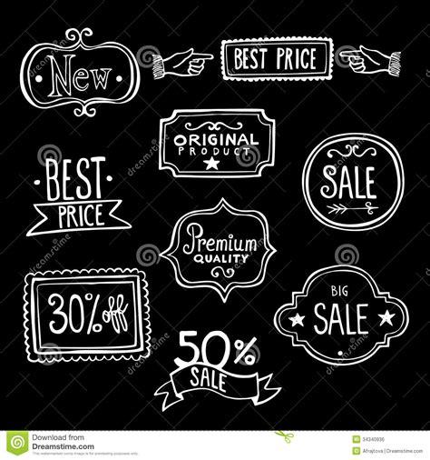 2 Color Sale Retro Promotion Brand Business - vintage sales labels doodles royalty free stock image