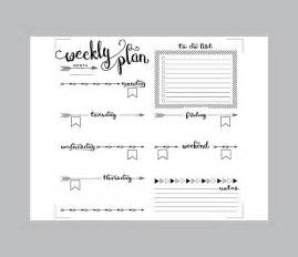 printable arrows midori weekly planner inserts fauxdori