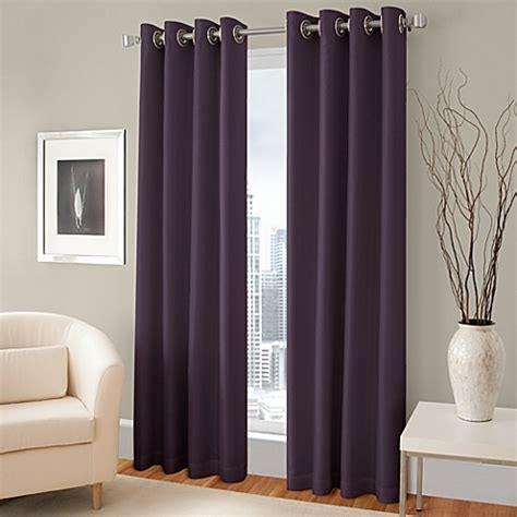 grommet lined curtains majestic blackout lined grommet window curtain panel bed