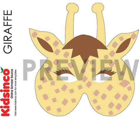 printable giraffe mask template animal masks templates download image search results