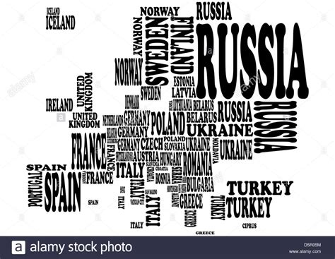 europe map with country names illustration of europe map with country name stock photo