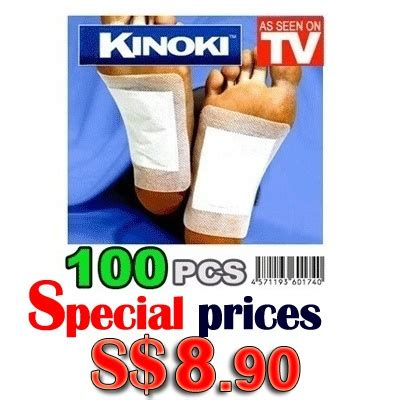 As Seen On Tv Detox Foot Pads by Qoo10 Today S 8 90 100pcs Kinoki Detox Foot Pads Patch