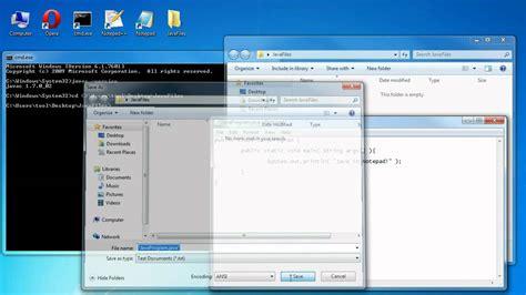 java tutorial using notepad tutorial write java programs in notepad youtube