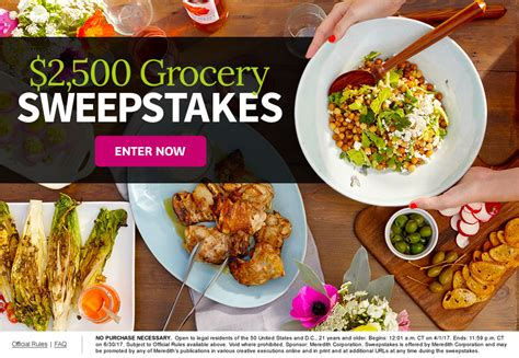 Bhg Sweepstakes Contests - bhg win 2500 grocery sweepstakes usa contests