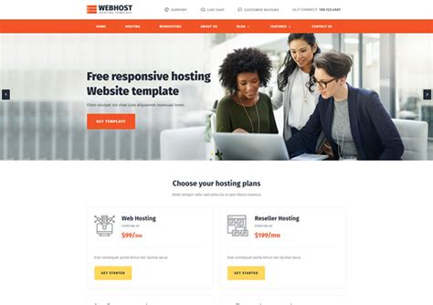 Webhost Web Hosting Bootstrap Responsive Templates Ease Template Bootstrap Responsive Website Templates Free