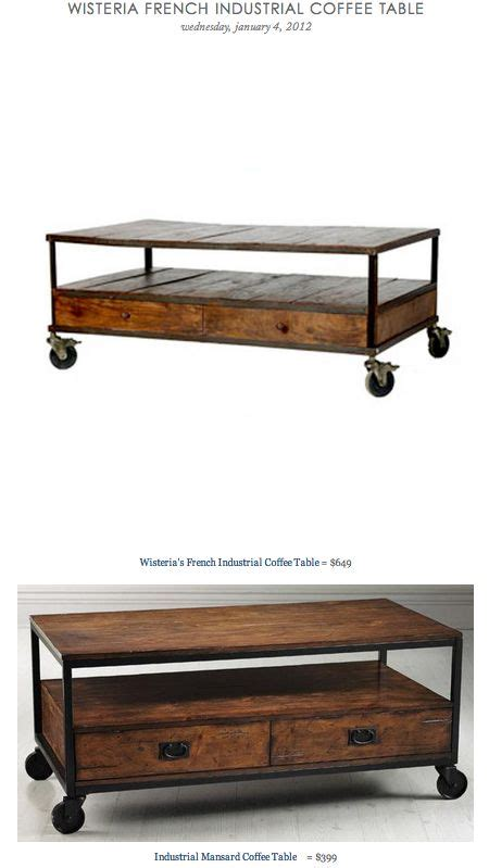 wisteria coffee table wisteria industrial coffee table vs industrial mansard coffee table copy cat chic