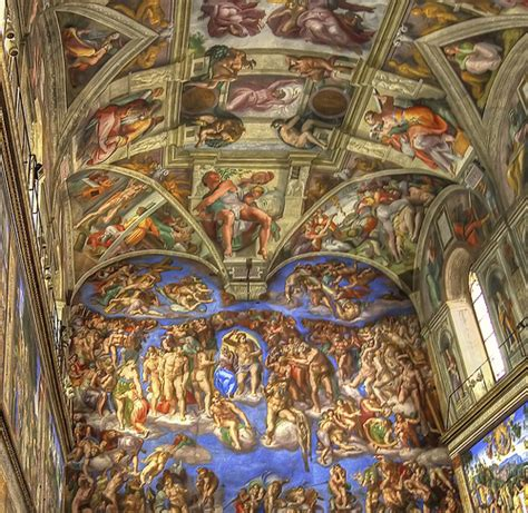 Sistine Chapel Ceiling A Portion Of The Sistine Chapel Sistine Chapel Ceiling Pictures