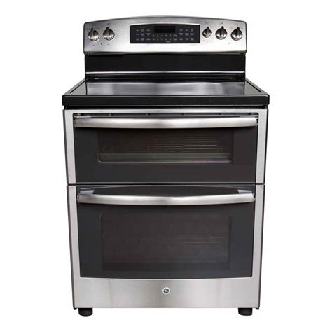 electric kitchen appliances ge 6 6 cu ft stainless double oven range pb955sfss review