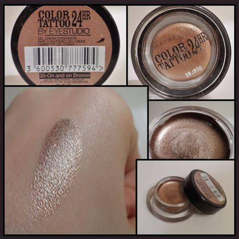 maybelline tattoo cream eyeshadow swatches 15 best color tattoo images on pinterest maybelline