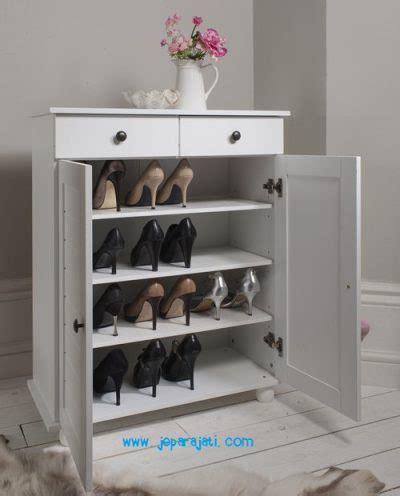 Rak Sepatu Jati Jepara rak sepatu putih minimalis jepara jati
