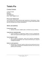 Cv Templates Free Nz Resume Template Nz Free Excel Templates