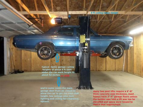 ceiling height for car lift a car lift in your shop grumpys performance garage