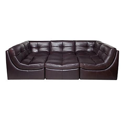 the cloud leather sectional modular sectional sofa in brown cloud collection z