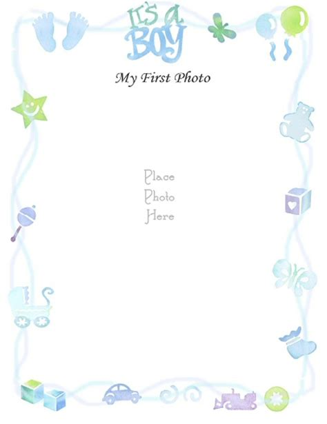 free printable baby shower borders free printable baby book pages scrapbookscrapbook