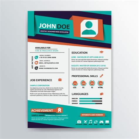 stylish resume templates stylish resume template vector free