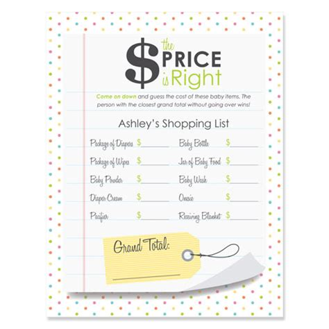 The Price Is Right Baby Shower by Is It The Right Price Baby Shower 18 Count