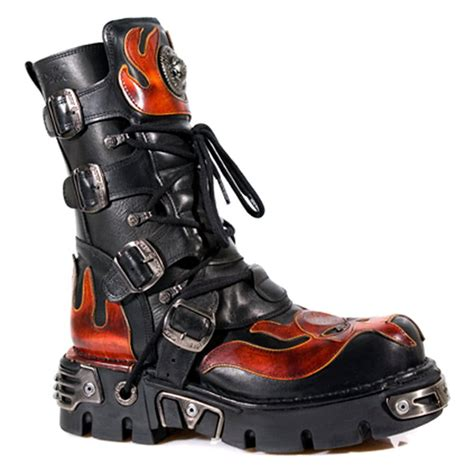 how to in new boots new rock boots flames style m107 s1 black blue