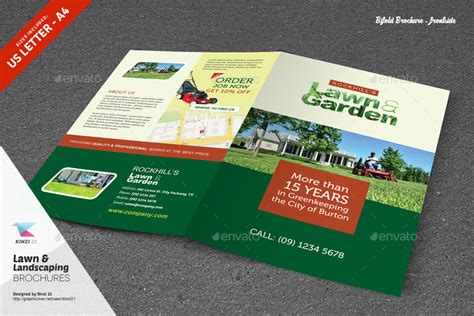 landscape brochure template lawn landscaping trifold and bifold brochure templates