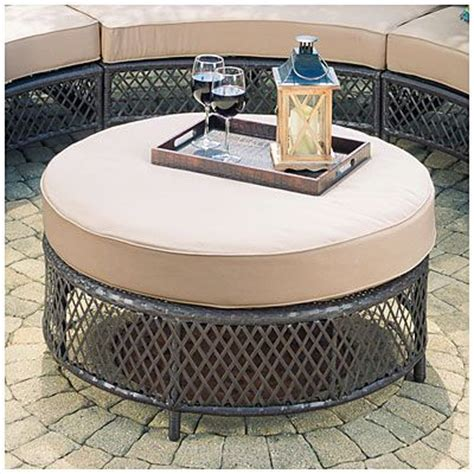 big lots outdoor ottoman wilson fisher 174 capri resin wicker round cushioned