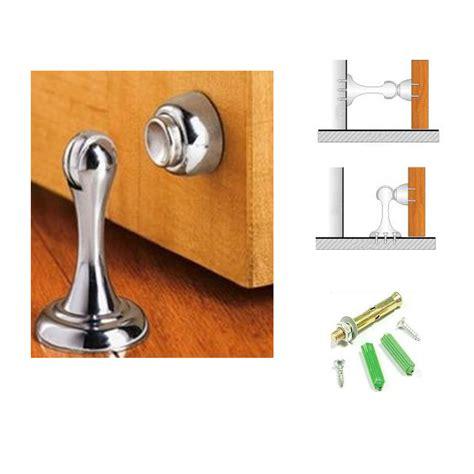 magnetic door stop new 3 magnetic door stop stopper holder catch fitting screws home office safety ebay