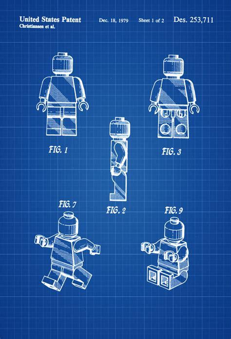 printable lego wall art lego toy figure patent patent print wall decor lego