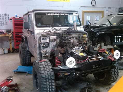 Jeep Tj V8 Conversion Lets See Some V8 Jeep Wranglers Nc4x4