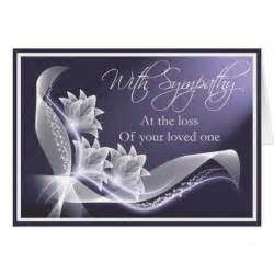sympathy loss of loved one card zazzle