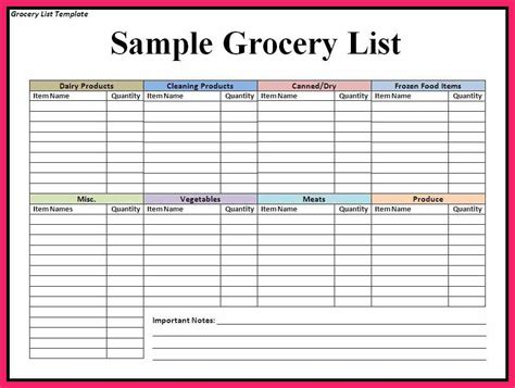 shopping list template grocery list template word bio letter format