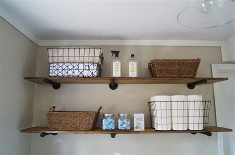 laundry room shelving ideas diy laundry room storage ideas pipe shelving