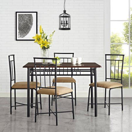 5 Table Set by Mainstays 5 Dining Set Colors Walmart