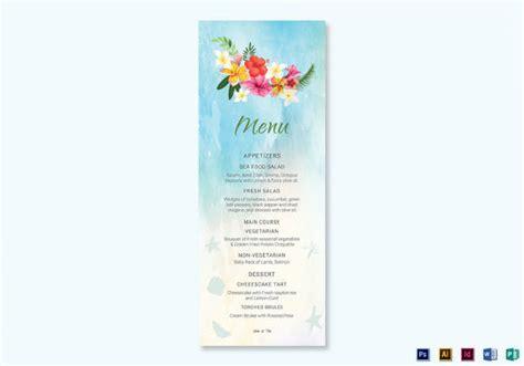 wedding menu card design templates 31 wedding menu templates sle templates