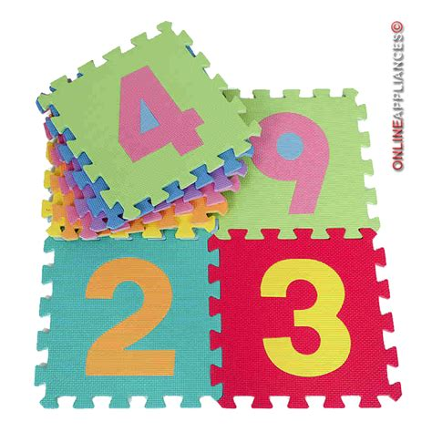 Foam Number Mat by 10pcs Large 0 9 Numbers Baby Children Play Mat Soft Foam Jigsaw Learning Puzzle Ebay