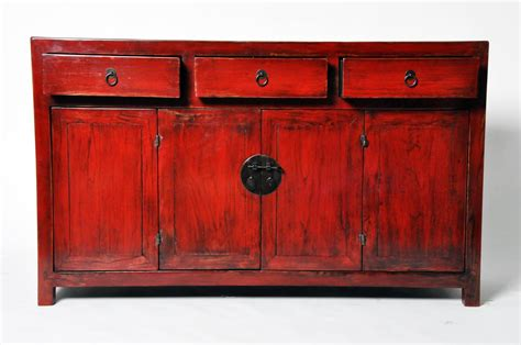 red lacquer cabinet chinese red lacquer cabinet at 1stdibs