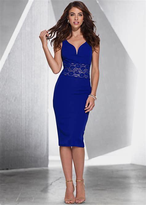 kleid mit spitze bodyflirt boutique blau