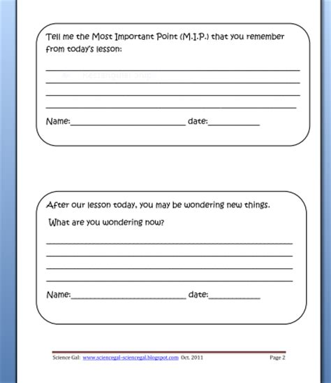 question card template engaging learners in the grades exit cards