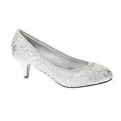 Silver low heel lace court shoe bridal shoes shoes wedding bhs