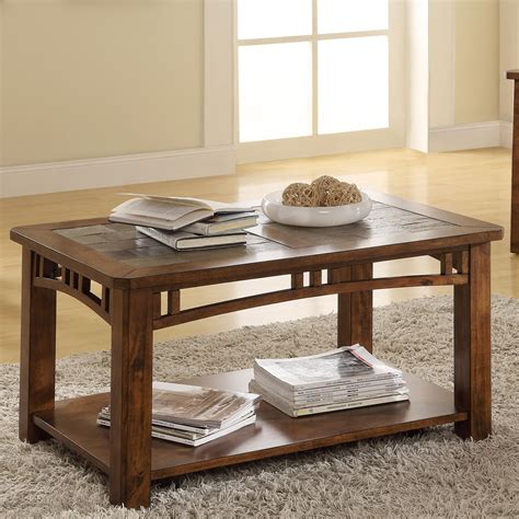 riverside furniture coffee table w casters