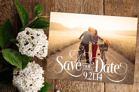 Wedding Announcements With Photos by Save The Date Wedding Announcements With Photos