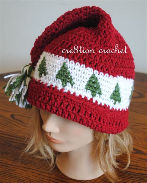 christmas cap crochet pattern trees go round