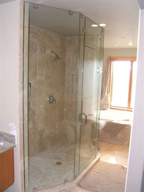 Showers Bathroom Shiny Glass Shower Showers Picture