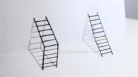 how to make 3d illusion l diy 3d ladder how to draw ladder optical illusion