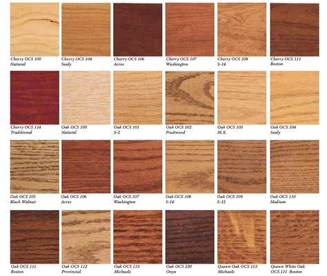furniture colors wood furniture colors chart hardwood floor stain color