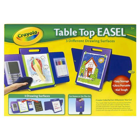 Crayola Table by Crayola Portable Kid Tough Table Top Easel Drawing