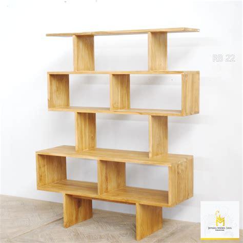 Rak Meja Dispenser Furniture Kayu Ramin 3 Tingkat Susun Murah rak buku kayu jati modern terbaru jepara mebel jaya jepara mebel jaya